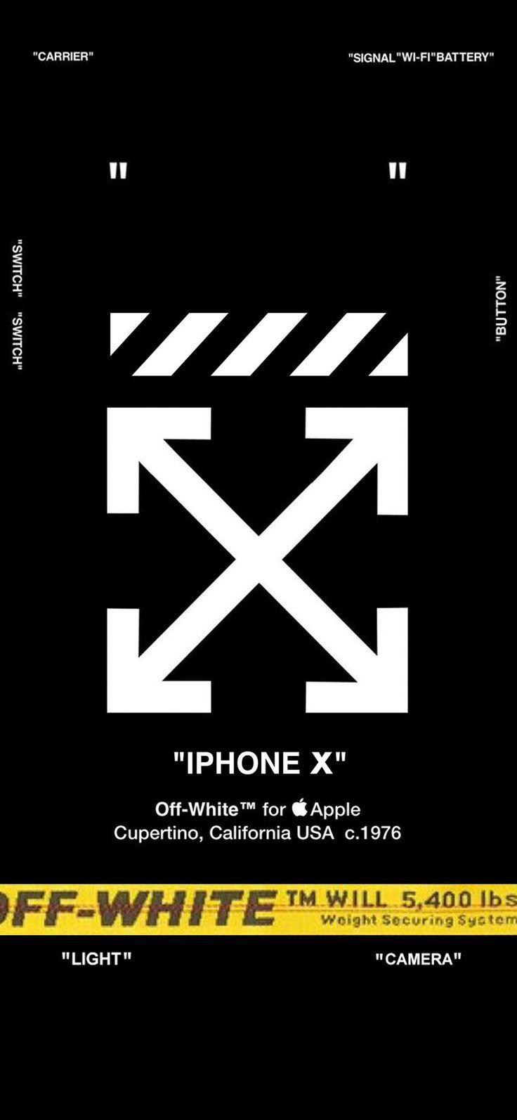 Iphone Wallpaper Off White Lock Screen For Iphone X Wallpaper Fond D Ecran Telephone Fond D Ecran Iphone Apple Arriere Plans Iphone