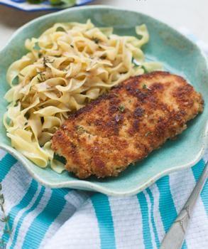 Lemon & Thyme Chicken with Buttered Egg Noodles Recipe - Recipes   Riverbender.com