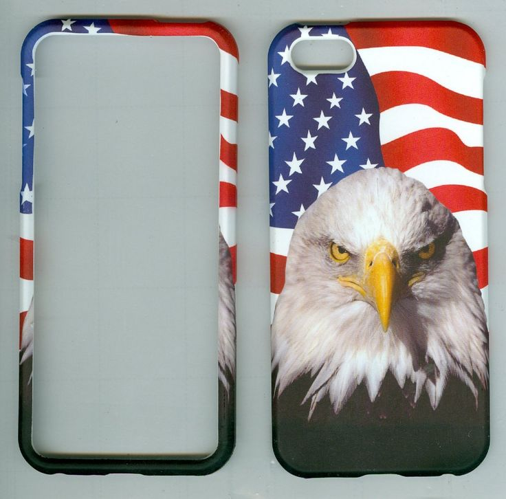 Protector Cover Outer Case Apple Iphone 5 8gb 16gb 32gb Rubberized Hard Cover Protector Apple At&t, Sprint, Verizon Us Cellular Virgin Mobile, Straight Talk NEW Snap on Hunter USA Flag White Bird. Protect your phone with style through this Attractive Protector Case and make it tamper resistance. Delivers ultimate protection from scratches and molds perfectly to device's shape to highlight its beauty. Reinforced with hard plastic to the sides to ensure the durability of the case and to...
