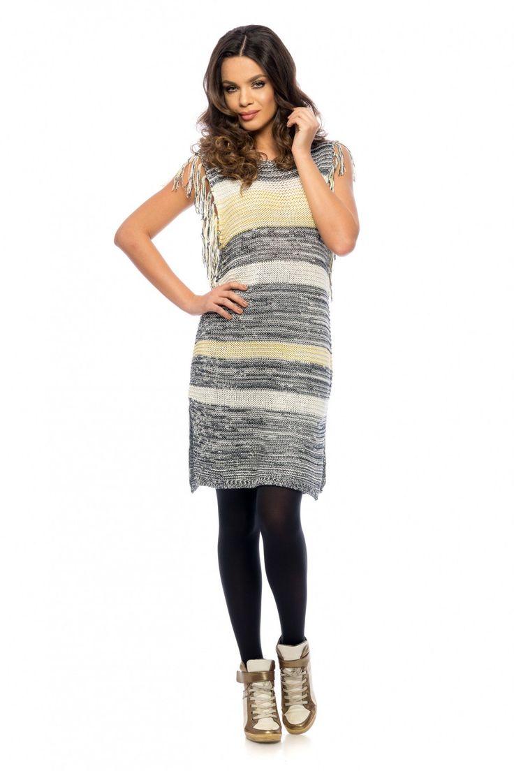 Rochie Mely Galbena 129 lei Rochie casual din tricotaj