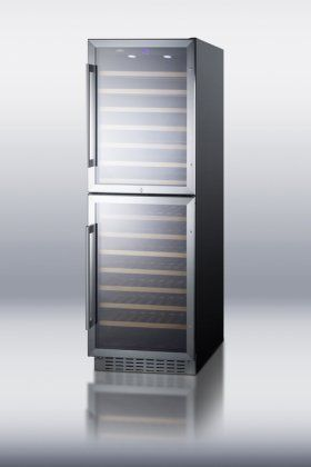 Special Offers - Summit SWC1875B Built-In Capable Two-Zone 118 Bottle Capacity Wine Cooler With Two Reversible Glass Doors Digital Thermostat Factory Installed Lock Recessed LED Lighting & In For Sale - In stock & Free Shipping. You can save more money! Check It (January 16 2017 at 04:06PM)…