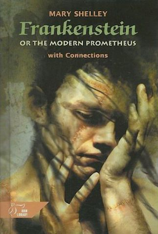 Frankenstein by Mary Shelley 1990's cover.