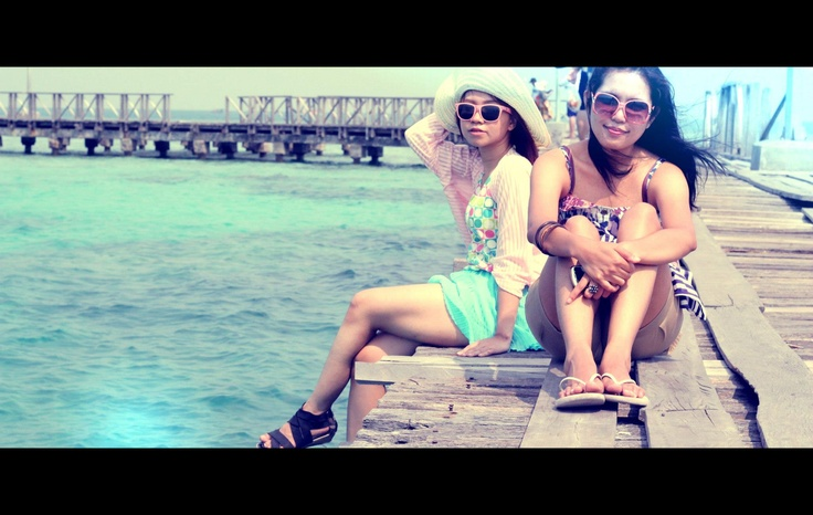 Nandana and Elisabeth in Tidung Island, Kepulauan Seribu, Indonesia (Aug '12) #photography #vacation