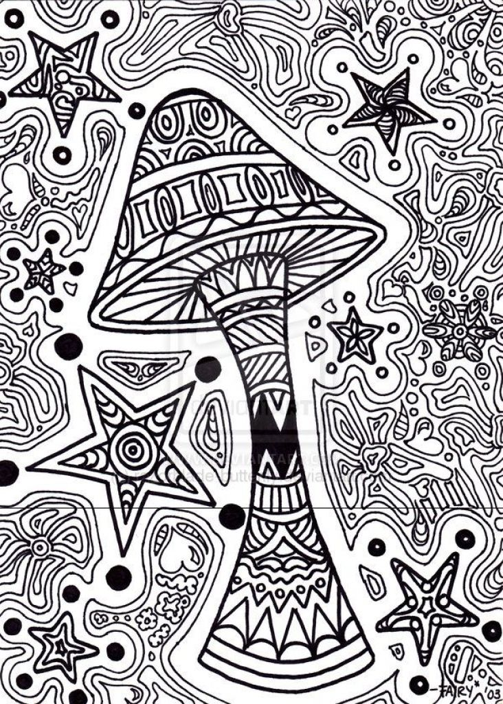 trippy coloring pages mushrooms nutrition - photo#6