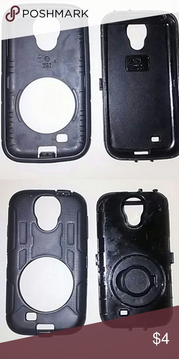 B1F1Samsung Galaxy S4 silicone rubber & hard case Buy 1 Free 1  Samsung Galaxy S4 cases: silicone rubber and hard case in good condition, no crack Samsung  Accessories Phone Cases