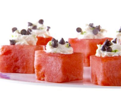 Mascarpone-Filled Watermelon: Food Network, Giada De Laurentiis, Marscapon Summerdessert, Summer Desserts, Mascarpone Fil Watermelon, Watermelon Cubes, Giada At Home, Giada Watermelon, Watermelon Recipes