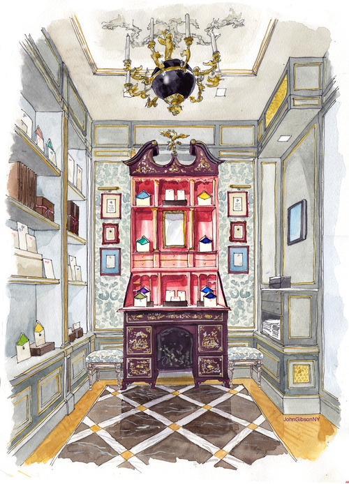 One Perspective Drawing Room: I Used To Do And Teach Interior Design Presentation