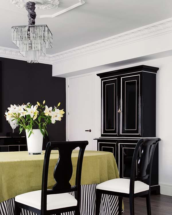 Black, White, And Gold. Amen. Dining Room ...