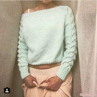 Оригинальный пуловер Схема вязки