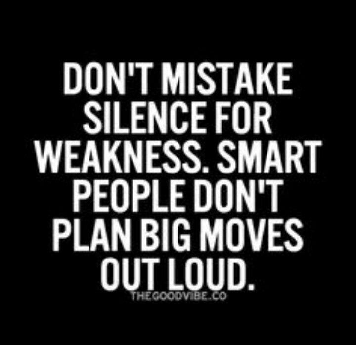 //Don't mistake silence for weakness.... #qoutes #inspires