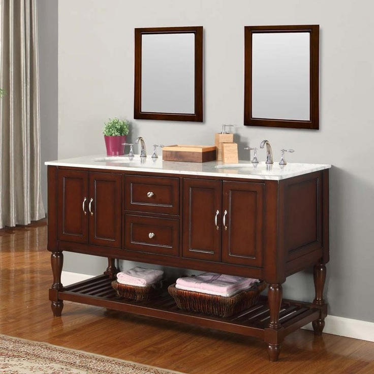 Direct Vanity Sink Mission Collection 60 In. Double Bathroom Vanity    Espresso