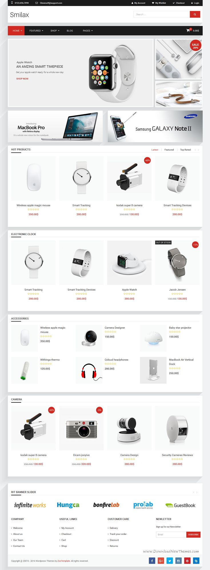 Ri Smilax is responsive WordPress Woocommerce theme with unlimited layout options and a lot of unbelievable features. #tech #eCommerce #website