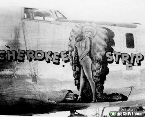 1940-airforce-bomber-nose-art-cherokee-stripAirforce Pinup, Bomber Art, Aircraft Nose, Noseart, Bomber Nose, Pin Up, Nose Artpinup, Airplanes Nose, Aircraft Pinup
