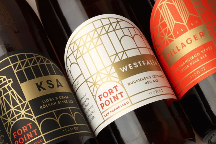 Packaging design by Manual for Fort Point craft brewery.