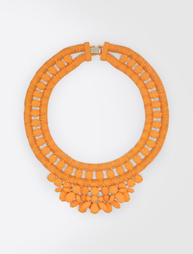 MaxMara WeekEnd BRIC tangerine: Rubberised necklace Product page