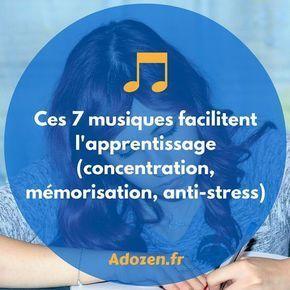 Nous vous invitons à tester l'écoute de 7 musiques qui faciliteront votre apprentissage et votre capacité de concentration. Plus