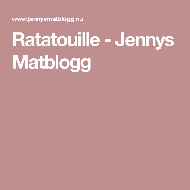 Ratatouille - Jennys Matblogg
