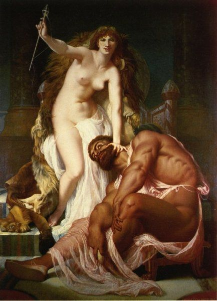Hercules at the Foot of Omphale ~ Gustave Boulanger, 1861