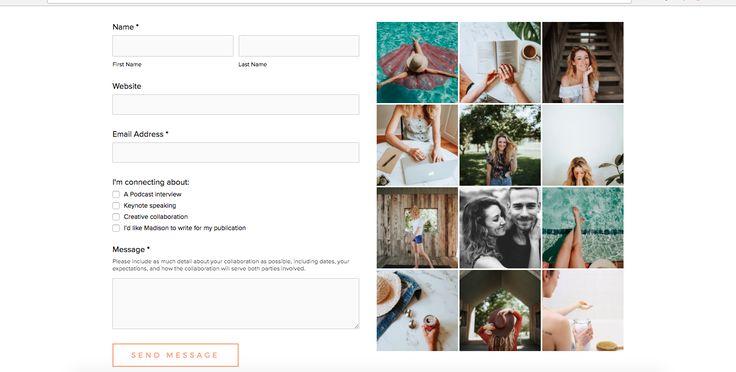 Madison Hedlund | Website Instagram Feed Design