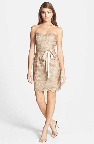 Adrianna Papell Lace Sheath Dress available at #Nordstrom