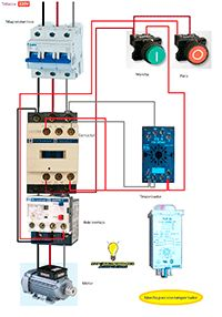 Esquemas eléctricos: Marcha y paro temporizada