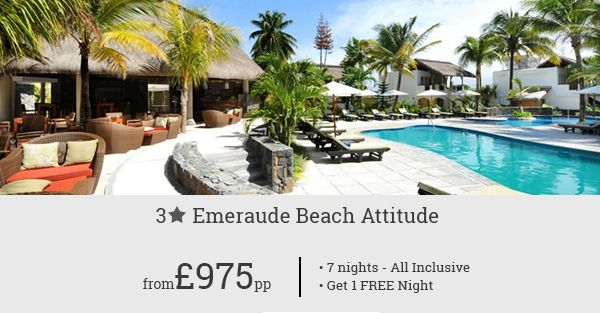 All-inclusive deals for Emeraude Beach Attitude, Mauritius was never so affordable. Get free night with this holiday deal.