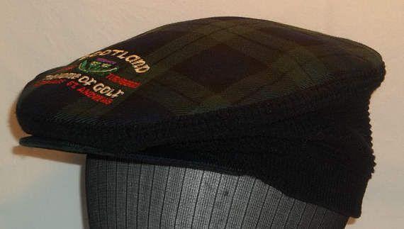 Vintage Newsboy Hat Golf Cap Blue Green Scotland Scottish Hats #NewsbayCap #HatsForMen #GolfHats