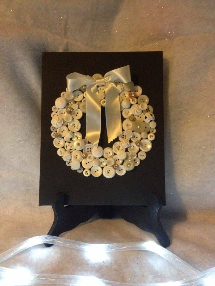 Button Art Wreath by Toodalous on Etsy