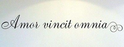 amor vincit omnia... Love conquers all. Beautiful