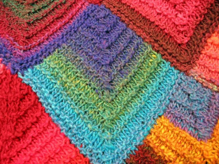 Mitered Knitting Patterns : 1000+ images about Domino knitting - dominostrikk on Pinterest Potholders, ...