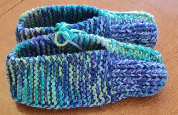 Hand Knitted Slippers  Wildflower by CountryCrafts4You on Etsy, $12.50