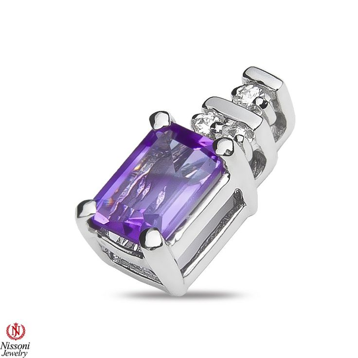 Ebay NissoniJewelry presents - Ladies .05CT Diamond Earrings with Amethyst in 10k White Gold    Model Number:E7052A-W077AM    http://www.ebay.com/itm/Ladies-.05CT-Diamond-Earrings-with-Amethyst-in-10k-White-Gold/221630400352