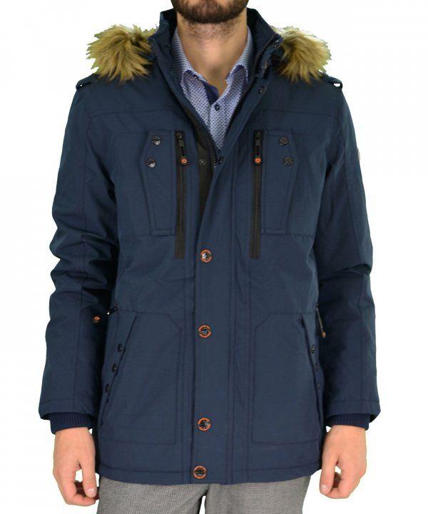 Ανδρικό τεχνικό μπουφάν Jacket Inox μπλε 16543 #χειμωνιατικαμπουφαναντρικα #εκπτωσεις #προσφορες #menjacket