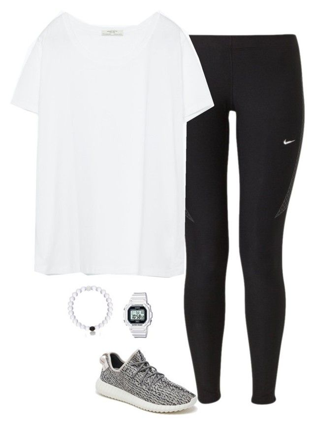 """Shoes..."" by keswenson ❤ liked on Polyvore featuring NIKE, adidas Originals, Zara, Casio and Everest"