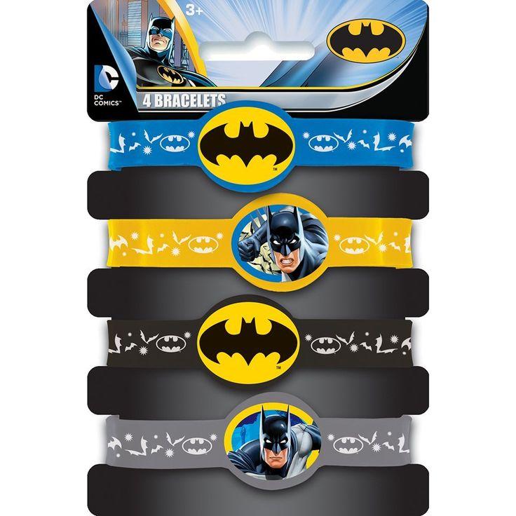 Batman Rubber Bracelet Party Favors, 4ct, Party Packs - Amazon Canada