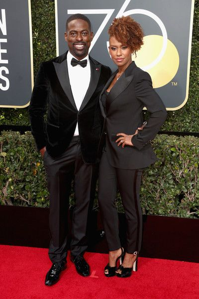Ryan Michelle Bathe Photos - Sterling K. Brown and Ryan Michelle Bathe attend The 75th Annual Golden Globe Awards at The Beverly Hilton Hotel on January 7, 2018 in Beverly Hills, California. - 75th Annual Golden Globe Awards - Arrivals