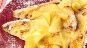 Tostada a la Francesa con Manzana y Canela