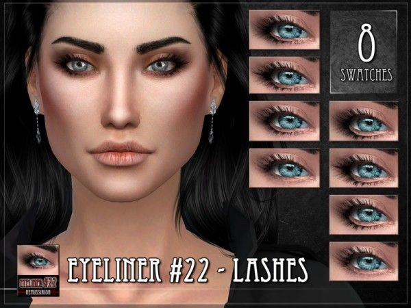 The Sims Resource: Eyeliner 22 - Lashes by RemusSirion • Sims 4 Downloads