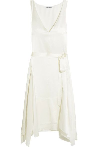 Elizabeth and James - Willow Silk-satin Dress - Ivory - VIA NET-A-PORTER SALE - AVAILABLE HERE: http://rstyle.me/~9Zetb