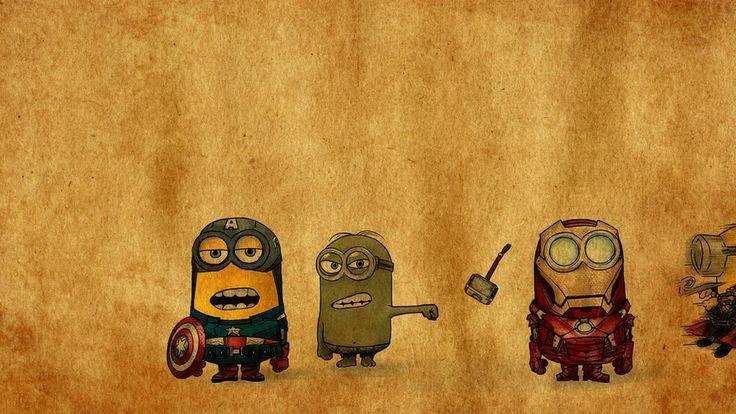 #Minions #avengers #cartoons #characters  minion, yellow