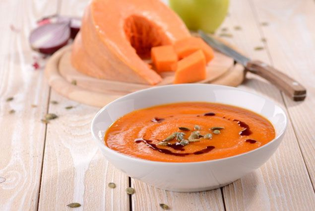 Polévka z muškátové dýně #jaknavelkeveci#food#recipe#foodporn#yum#yummy#cooking#inspiration#meat#meal#soup#pumpkin