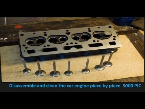 Disassemble and clean the car engine piece by piece  3000 PIC