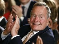 """For breaking his """"no new taxes"""" campaign pledge and raising taxes before the 1992 presidential election, former President George H. W. Bush was named a recipient of this year's John F. Kennedy Profile in Courage Award."""