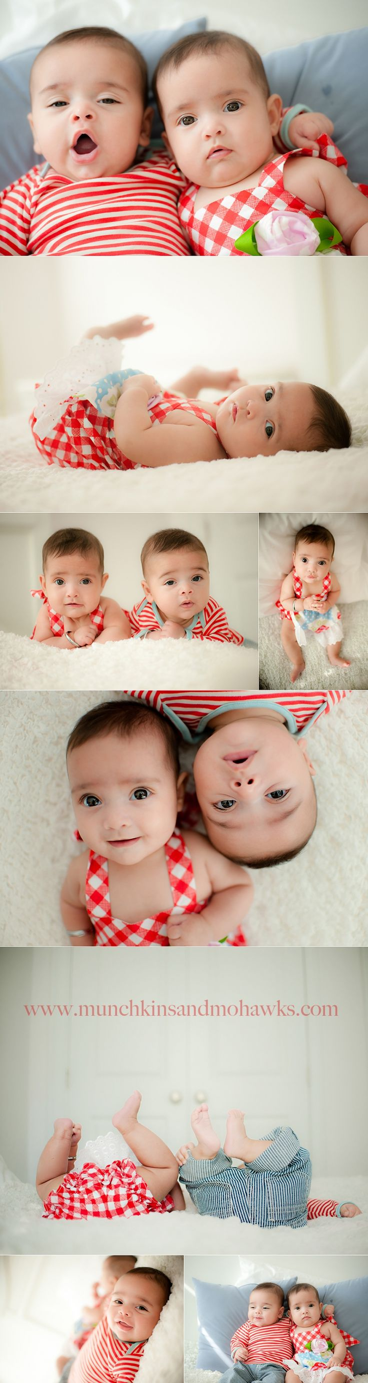 5 month old twin babies www.munchkinsandmohawks.com/blog
