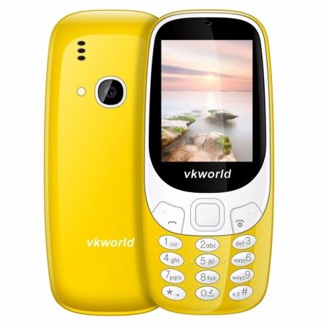 Vkworld Z3310  téléphone 6,1 cm écran 3d, Anglais, clavier, batterie de 1450 mAh, amplificateur de classe K, double SIM, FM, Bluetooth, lampe de poche