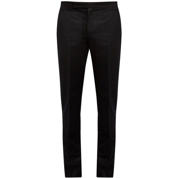 Maison Margiela Straight-leg flannel trousers ($545) ❤ liked on Polyvore featuring men's fashion, men's clothing, men's pants, men's flannel pajama pants and mens relaxed fit pants