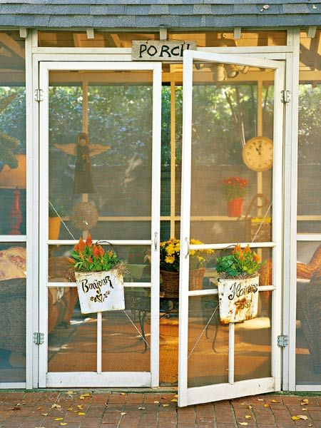 Enclosed screen porch ideas porch outdoor paradise for Double wide patio doors