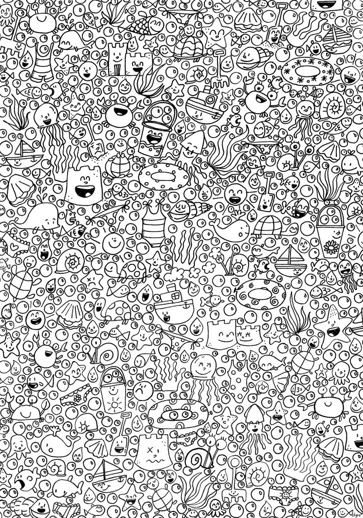 Abstract Doodle Zentangle Coloring pages colouring adult detailed advanced printable Kleuren voor volwassenen coloriage pour adulte anti-stress kleurplaat voor volwassenen coloriage art thérapie fond marin