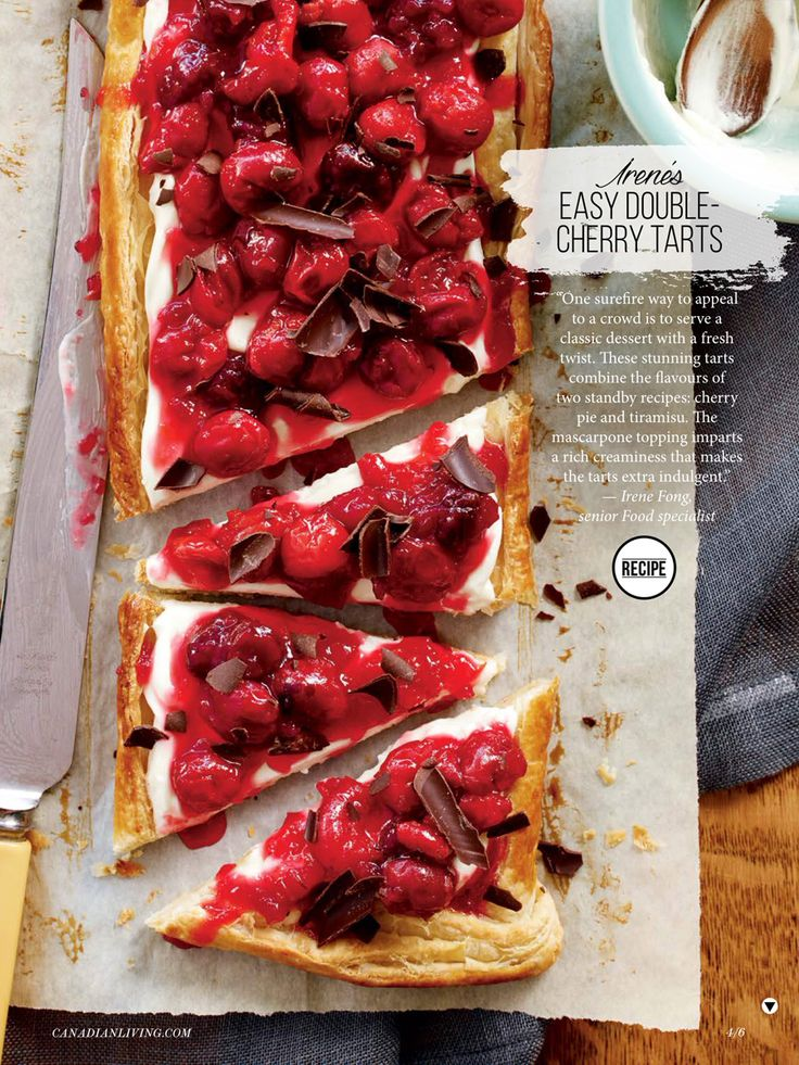 Steve Krug for #CanadianLiving #doublecherrytarts Fuze Reps | Toronto Ontario Canada | TEL 416.656.8585