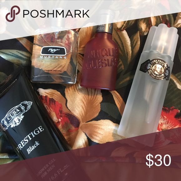 Free w/ purchase $25 or more just add 2 bundle Cuba Prestige after shave and shower gel, Enrique Iglesias spray, Mustang Spray. Other
